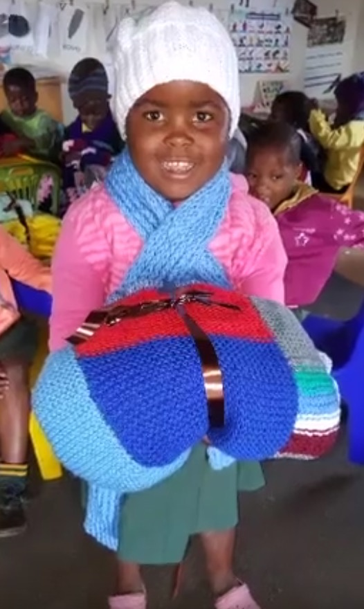 Delivering blankets to Zululand creche