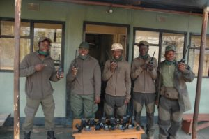 aware rangers with radios blankets for babyrhinos